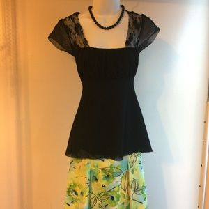 Ruched bust line Sweet Pea Tops Sz S